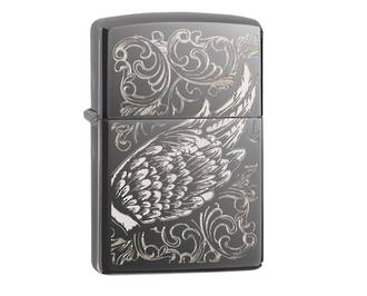 Zippo Filigree Flame and Wing Design