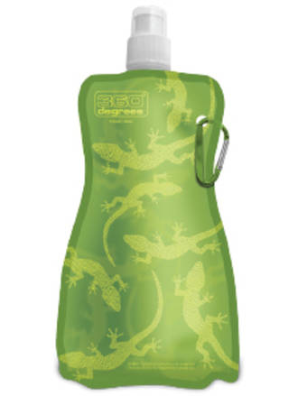 360 Degrees Flexible Drink Bottle Gecko