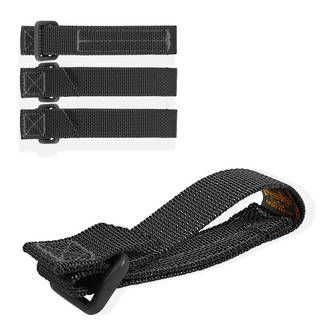 """Maxpedition TacTie Strap 3"""" (Pack of 4) - Black"""