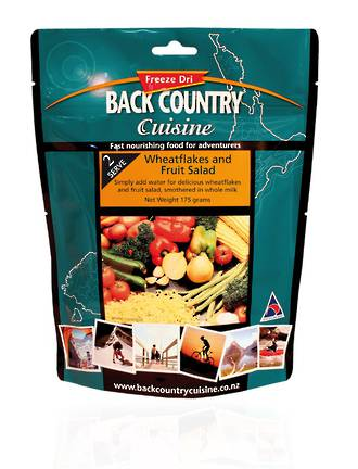 Back Country Cuisine Wheatflakes and Fruit Salad 2 Serve