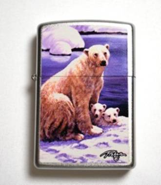Zippo Linda Picken Polar Bear Lighter