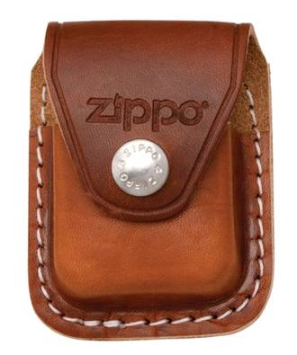 Zippo Lighter Pouch with clip Brown
