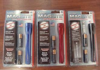 Maglite AA Torch w/holster - 3 Colours