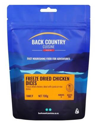 BACK COUNTRY CUISINE FREEZE DRIED CHICKEN DICES GLUTEN FREE FAMILY