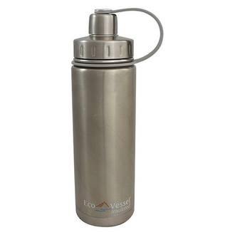 Eco Vessel Boulder Triple Insulated Water Bottle Silver 20oz