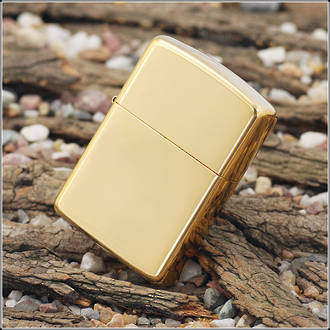 Zippo High Polish Brass Armor Lighter