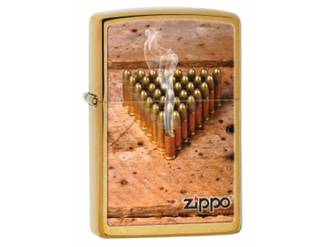 Zippo Smoking Bullets Brushed Brass Lighter