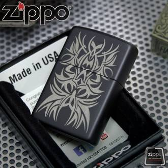 Zippo Tattoo Mark Black Matte Lighter