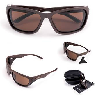 Cold Steel Battle Shades Mark-III Eyewear, Matte Brown Sunglasses
