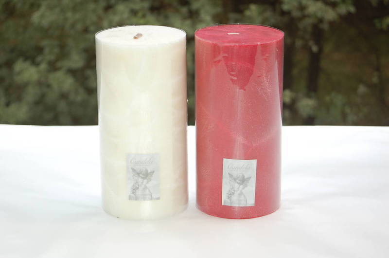Candle - pillar 10x20 Red, Cranberry fragrance