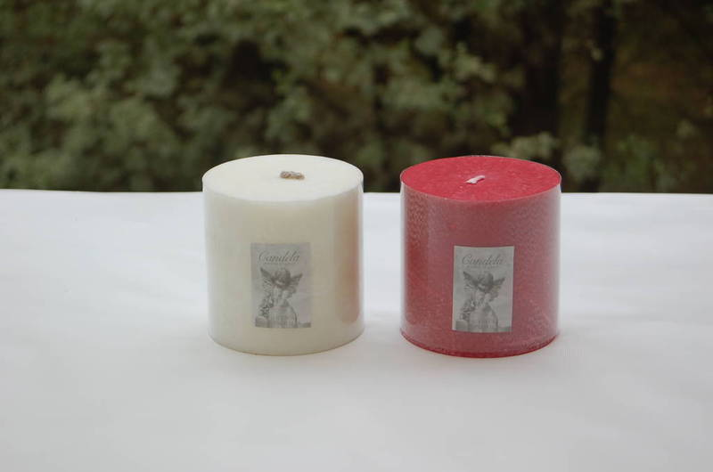 Candle - pillar 10x10 White, Fragrance