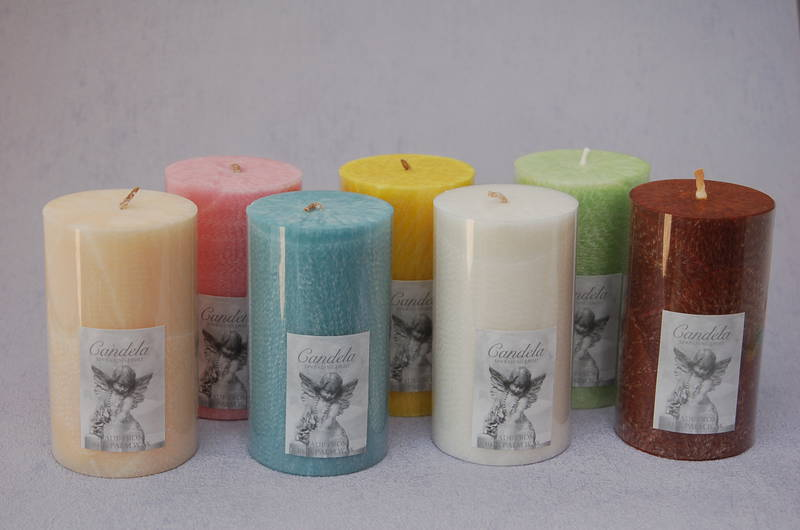 Cream Vanilla fragrance Scented Candles 6.4x11cm