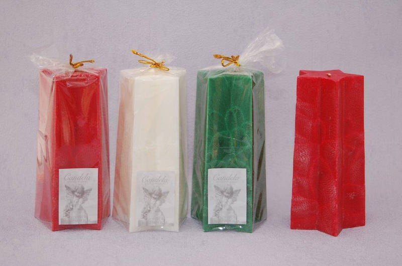 Star Pillar Green, Christmas Spice & Orange Fragrance