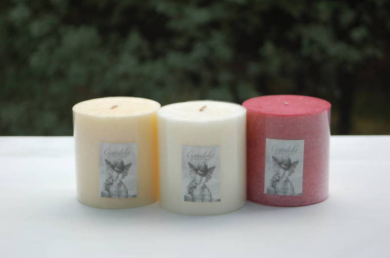 White  scented Candle - pillar 7.5x7.5