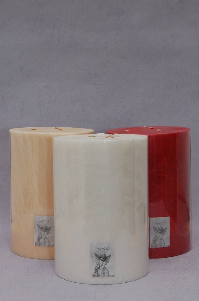 Giant Three Wick Candle, Crean/Vanilla Fragrance
