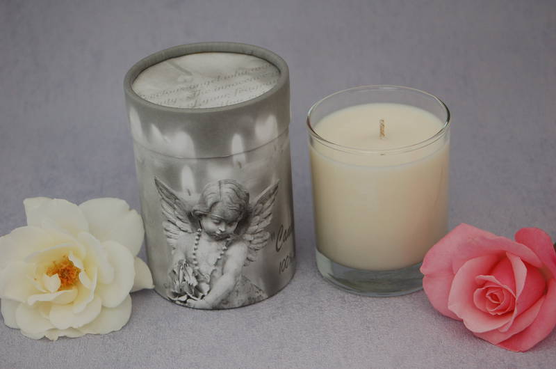 Rose Fragrance, Angel box candle with a choice of five fragrances