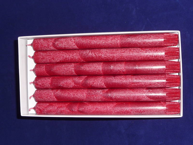 Candles - straights 25cm red