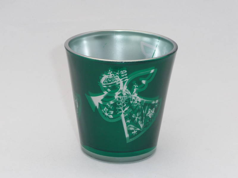 Green, Angel tea light holder