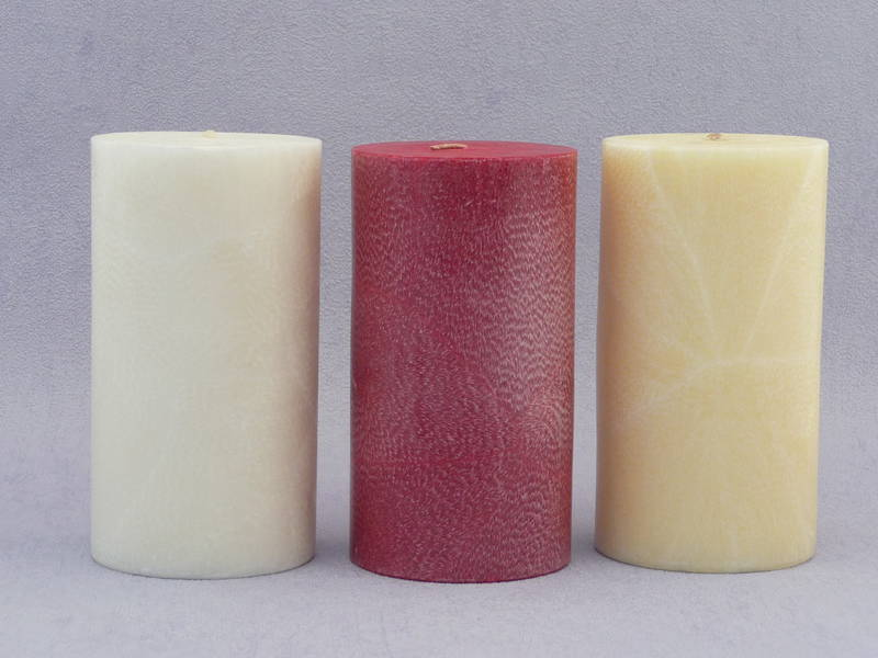 Red Cranberry  scented Candle - pillar 7.5 x 14cm
