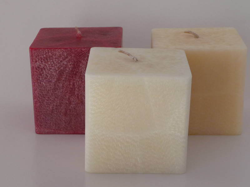 Square  Cream Vanilla scented Candle