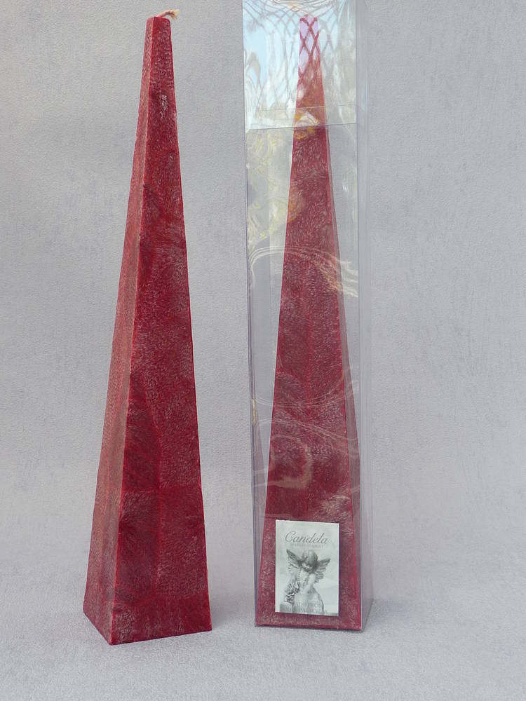 Tall, Red, Cranberry Fragrance Pyramid