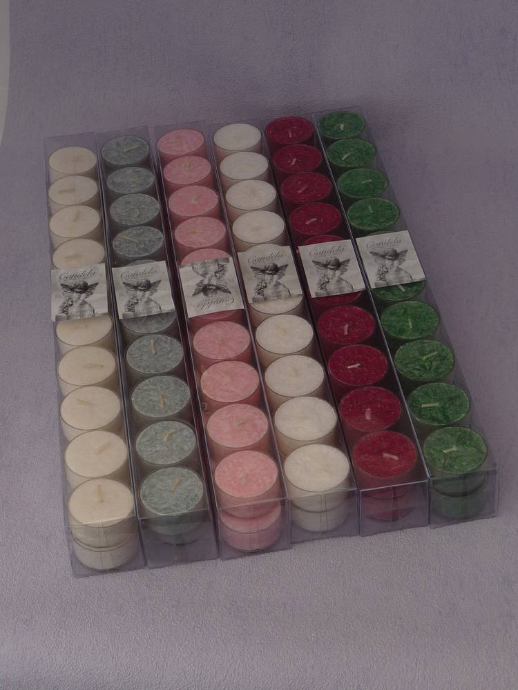 Dark Green - Christmas Spice Scented tea light candles