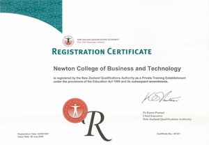 NZQA Registration cert
