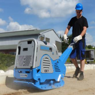 500Kg Reversible Plate Compactor c/w Trailer