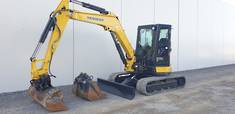2017 Yanmar VIO55-6 Cabin & Tilt, Trench and GP...
