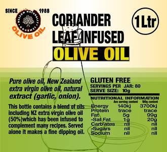Coriander Infused Olive Oil Blend (1 litre)