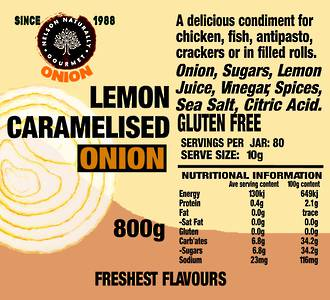 Lemon Caramelised Onion (800g)