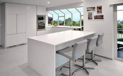 White-on-White kitchen Crisp and Clean