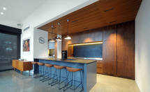 Contemporary Kitchen Big on Timber