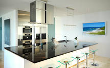 Hip Kitchen: Granite + Stainless
