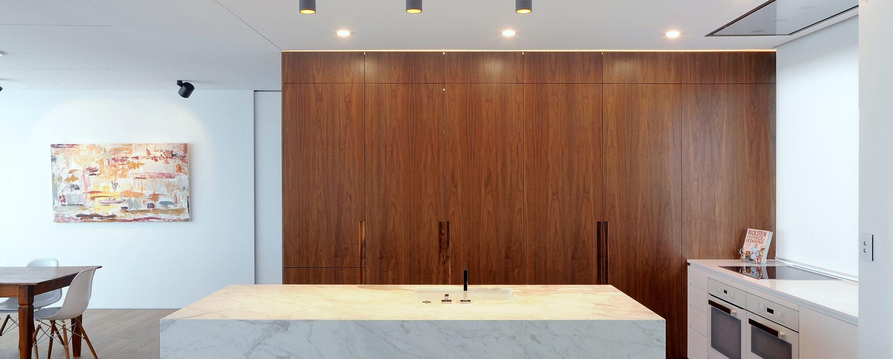 modern minimalist walnut