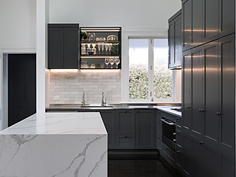 THUMB2 Neo design designer renovation kitchen marble engineered stone benchtop shaker classic traditional Auckland Devonport