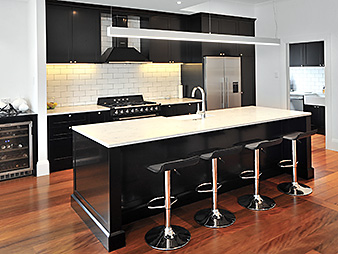THUMB kitchen Neo Design custom Black polyurethane classic shaker Auckland