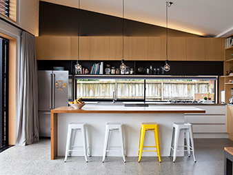 non toxic natural contemporary kitchen