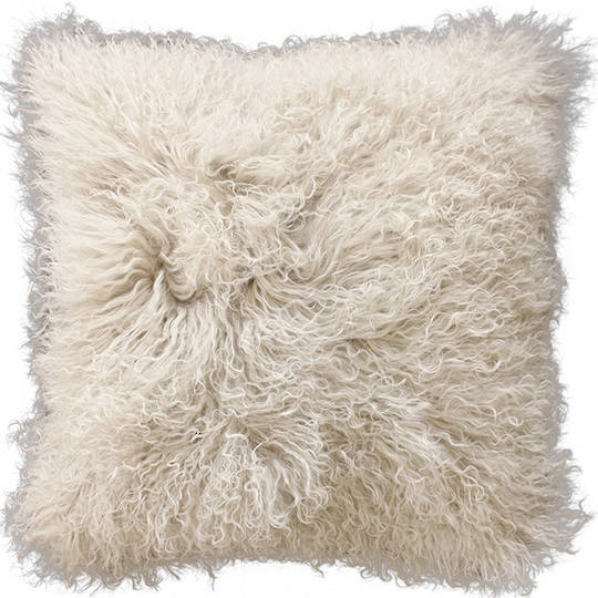 Furtex - Meru Tibetan Lamb Fur Cushion - Oatmeal