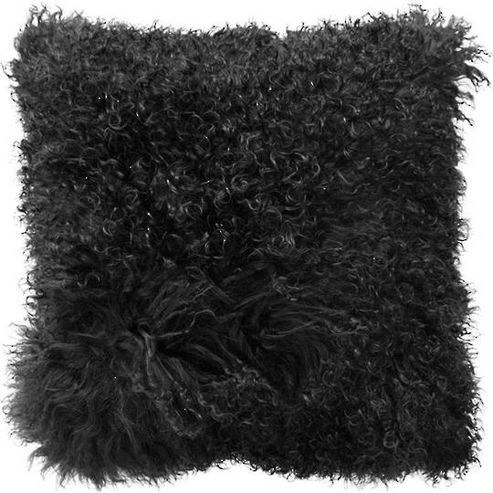 Furtex - Meru Tibetan Lamb Fur Cushion - Black