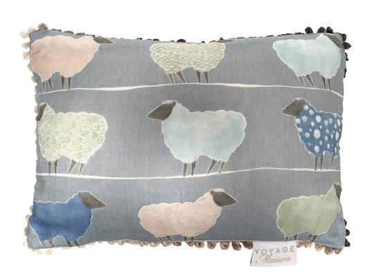 Voyage Maison - Folklore/Art House - Baary Linen Cushion  - Cornflower