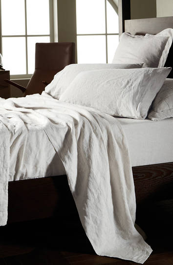 Sheridan - Abbotson White Linen Sheets /Pillowcases /Eurocases