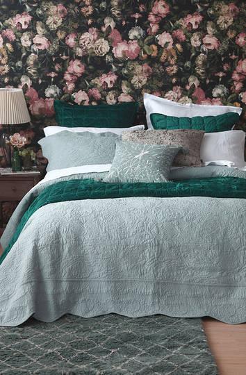 MM Linen - Ara  Bedspread Set - Seafoam