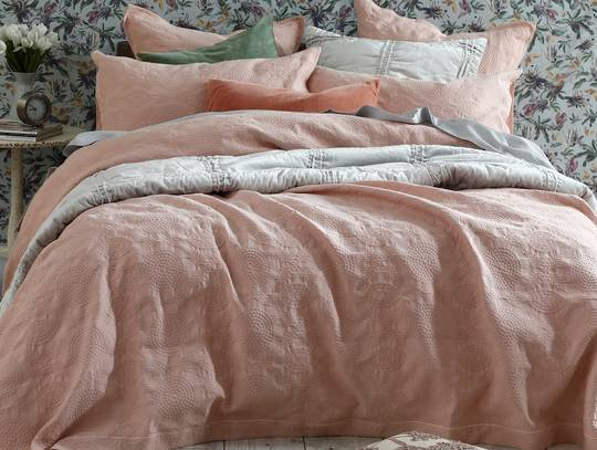 MM Linen - Aviana Bedpread Set - Rose