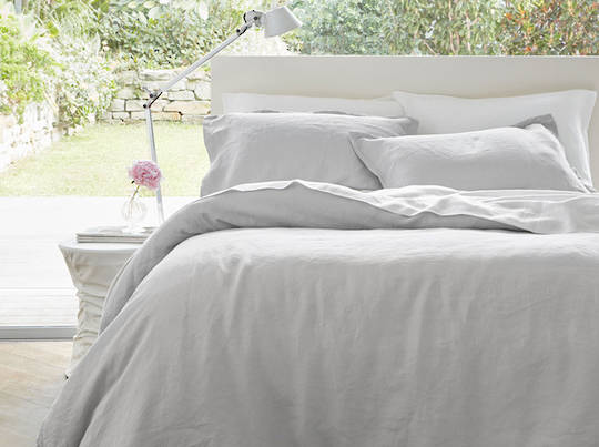 Baksana - Linen Duvet Cover Set - Ash