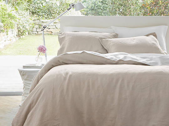 Baksana - Linen Duvet Cover Set - Sand