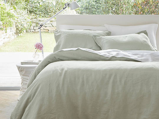Baksana - Linen Sheet Sets - Smoke