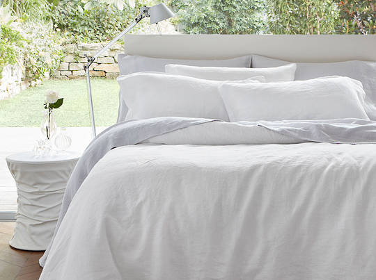 Baksana - Baltic Linen Duvet Cover Set - White