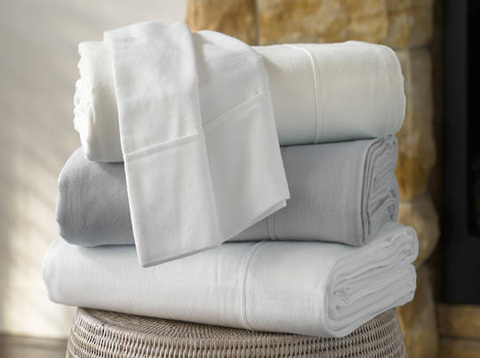 Baksana  - Flannelette Sheets / Pillowcases - Silver