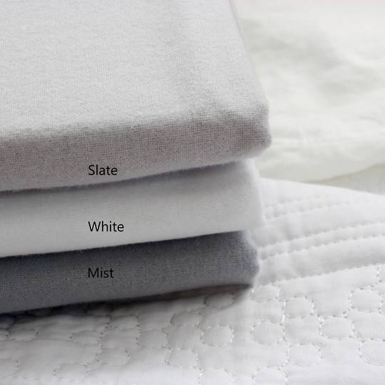 Seneca - Bellini Luxe Flannelette Sheet Sets - White